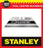 10 x STANLEY CARBIDE TIPPED UTILITY KNIFE BLADES – 2x5 PACK