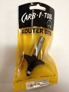 "CARB-I-TOOL T 524 B 19mm RADIUS x ½"" CARBIDE TIPPED ROUNDING OVER ROUTER BIT"
