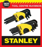 STANLEY 21pce LONG ARM BALL POINT HEX / ALLEN KEY SET – METRIC & A/F