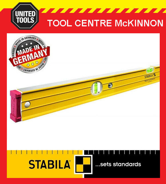 STABILA 244cm / 2.4m 96-2/244 BOX FRAME RIBBED HEAVY DUTY 3-VIAL SPIRIT LEVEL