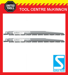 SUTTON TOOLS 240mm WOOD / TREE PLUNING BLADE FOR RECIPROCATING SAW – 2-PACK