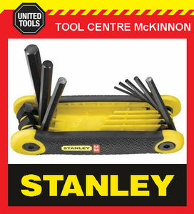 STANLEY 8pce METRIC FOLD UP HEX ALLEN KEY SET