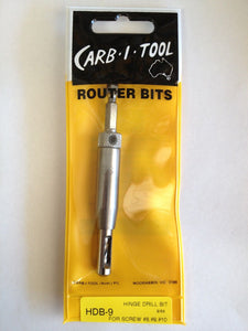 "CARB-I-TOOL HDB-9 SELF CENTREING 9/64"" HINGE DRILL BIT FOR #8, #9 & #10 SCREWS"
