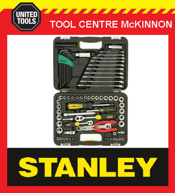 STANLEY 71-610 94 PIECE SOCKET, SPANNER, ALLEN KEY, PLIERS TOOL SET / KIT