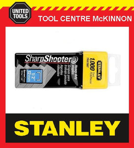 3 BOXES STANLEY 12mm T-50 SHARPSHOOTER TRA708T HEAVY DUTY STAPLES – 3000 STAPLES