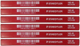 6  x STAEDTLER 148 40 MEDIUM CARPENTER'S PENCILS