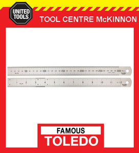 "FAMOUS TOLEDO 100064 1000mm / 64"" STAINLESS STEEL DOUBLE SIDED METRIC & A/F RULE"
