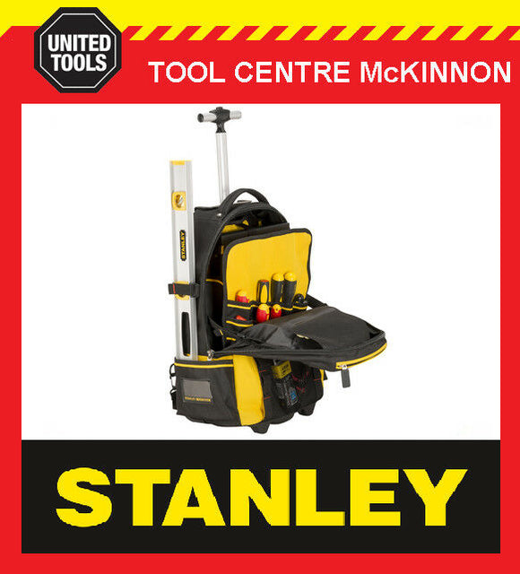 STANLEY FATMAX 1-79-215 TOOL BACK PACK BAG / ORGANISER ON WHEELS WITH HANDLE