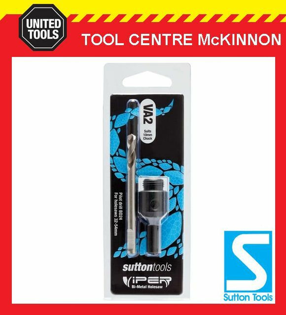 SUTTON VIPER VA2 HOLESAW ARBOR – SUIT 32 – 54mm HOLESAWS