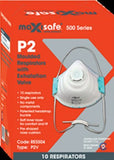 MAXISAFE P2 MOULDED RESPIRATOR DISPOSABLE DUST MASK WITH VALVE – BOX OF 10
