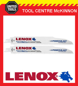 "2 x LENOX 9"" 966R DEMOLITION NAIL EMBEDDED WOOD RECIPROCATING / SABRE SAW BLADE"
