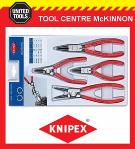 KNIPEX 00 20 03 V02 4pce INTERNAL & EXTERNAL CIRCLIP PLIER SET – MADE IN GERMANY