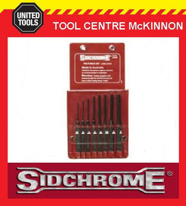 SIDCHROME SCMT27205 8pce LONG PIN PUNCH SET – MADE IN AUSTRALIA