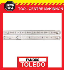 TOLEDO Stainless Steel Rulers Metric /& Imperial Double Sided