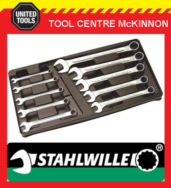 "STAHLWILLE 13A/10 KT 1/4""–3/4"" 10pce IMPERIAL COMBINATION SPANNER SET – 96404812"
