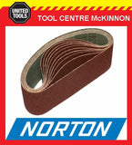 "10 x NORTON #40 GRIT 3"" (75 x 610) SANDING BELT – SUIT MAKITA 9924DB AND OTHERS"