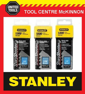 STANLEY T-50 SHARPSHOOTER HEAVY DUTY STAPLE ASSORTMENT (6, 8 10mm)