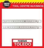 FAMOUS TOLEDO 300SP STAINLESS STEEL DOUBLE SIDED METRIC RULE – MADE IN JAPAN