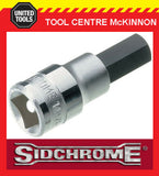 "SIDCHROME SCMT14281 1/2"" DRIVE METRIC 7mm IN-HEX / ALLEN KEY SOCKET"