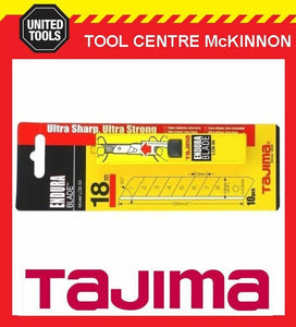 10 x TAJIMA ENDURA 18mm SNAP OFF UTILITY KNIFE BLADES – LCB50