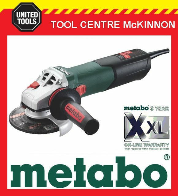 "METABO W12-125Q 5"" / 125mm 1250W ANGLE GRINDER WITH QUICK NUT – MADE IN GERMANY"