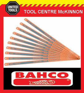 "10 x BAHCO SANDFLEX 24TPI 12""/300mm HSS BI-METAL HACKSAW BLADES – MADE IN SWEDEN"