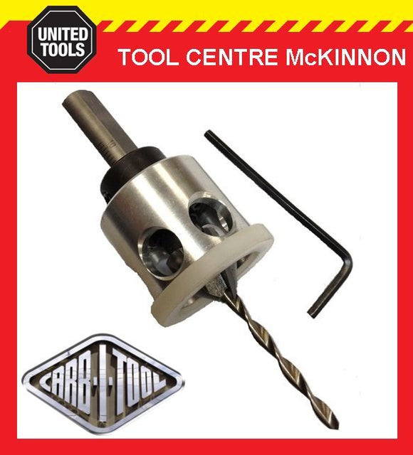CARB-I-TOOL SMART TUNGSTEN CARBIDE 8G / 3.2mm DECKING SCREW COUNTERSINK BIT TOOL