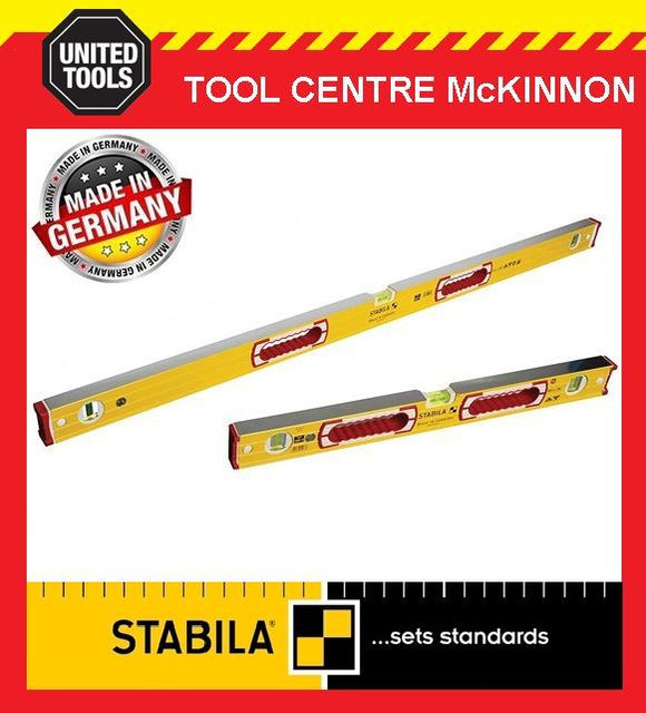 STABILA 600mm / 2ft AND 1200mm / 4ft TYPE 196-2 SPIRIT LEVEL TWIN PACK