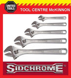 SIDCHROME 5pce CHROME PLATED ADJUSTABLE WRENCH SHIFTER SET – 4, 6, 8, 10 & 12""