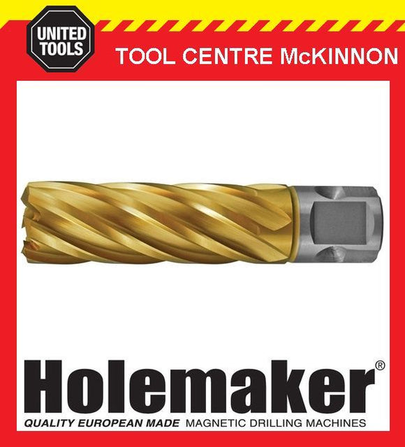 HOLEMAKER 16mm x 50mm UNIVERSAL SHANK GOLD MAG DRILL CUTTER – SUIT MOST BRANDS