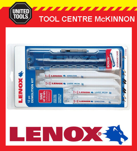 LENOX DEMOLITION 12pce RECIPROCATING SAW BLADE SET WITH CASE