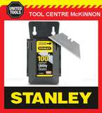 100 x STANLEY 1992 HEAVY DUTY UTILITY KNIFE BLADES IN DISPENSER