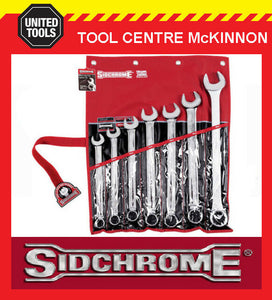 SIDCHROME SCMT22209 7pce LARGE SIZES RING & OPEN END METRIC SPANNER SET