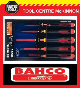 BAHCO ERGO BE-9881S 5pce 1000V VDE SCREWDRIVER SET – PHILLIPS AND SLOTTED