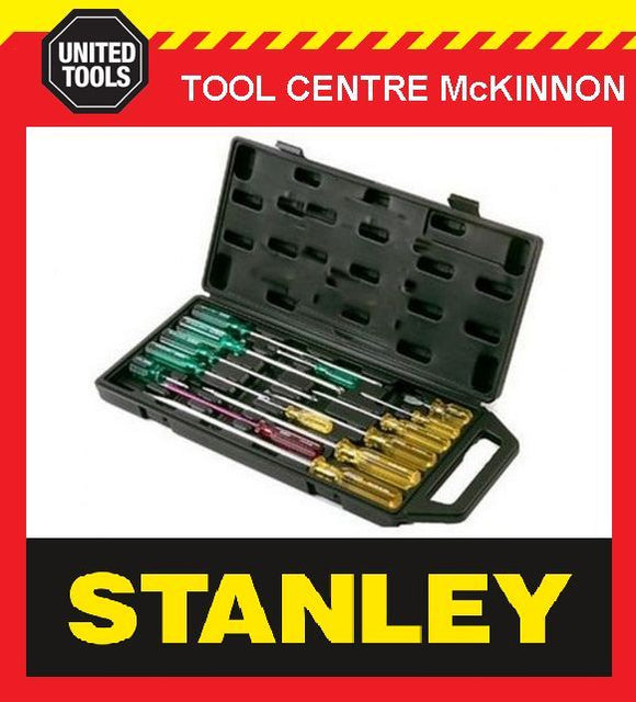 STANLEY 14pce SCREWDRIVER SET IN CARRY CASE – AUSTRALIA'S BEST SELLER