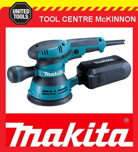"MAKITA BO5041KX 300W 125mm (5"") RANDOM ORBITAL SANDER IN CARRY CASE"