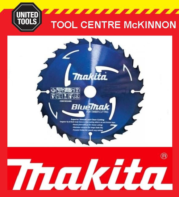 MAKITA B-44965 BLUEMAK 190mm x 24 TEETH 20mm BORE TCT CIRCULAR SAW BLADE