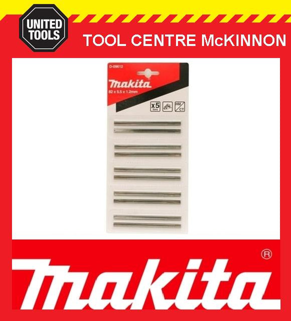 MAKITA D-09612 82mm TUNGSTEN PLANER BLADES - 5 PACK