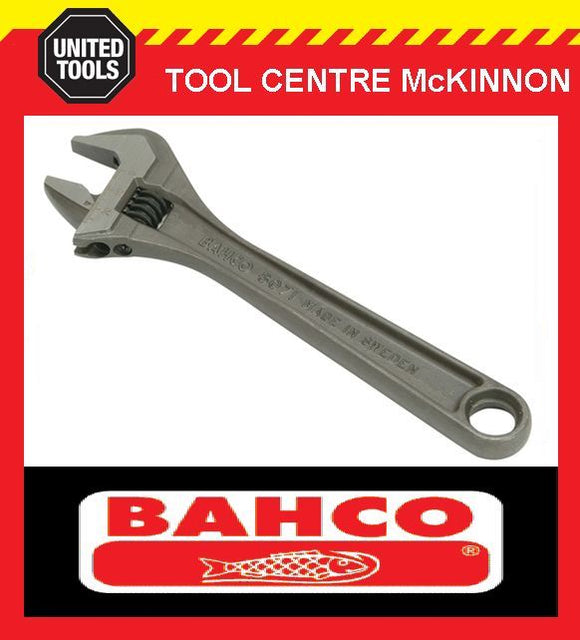 "BAHCO 8071 8"" PHOSPHATED BLACK FINISH ADJUSTABLE WRENCH SHIFTER"