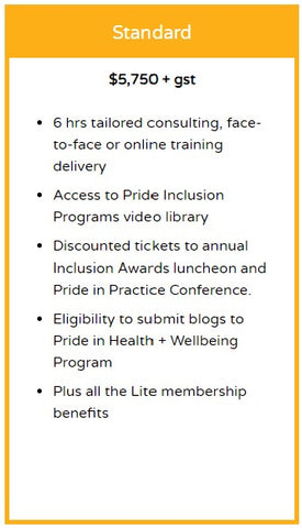 Pride in Health + Wellbeing Membership