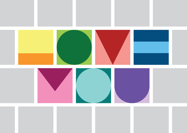 """Love You"" Greeting Card"