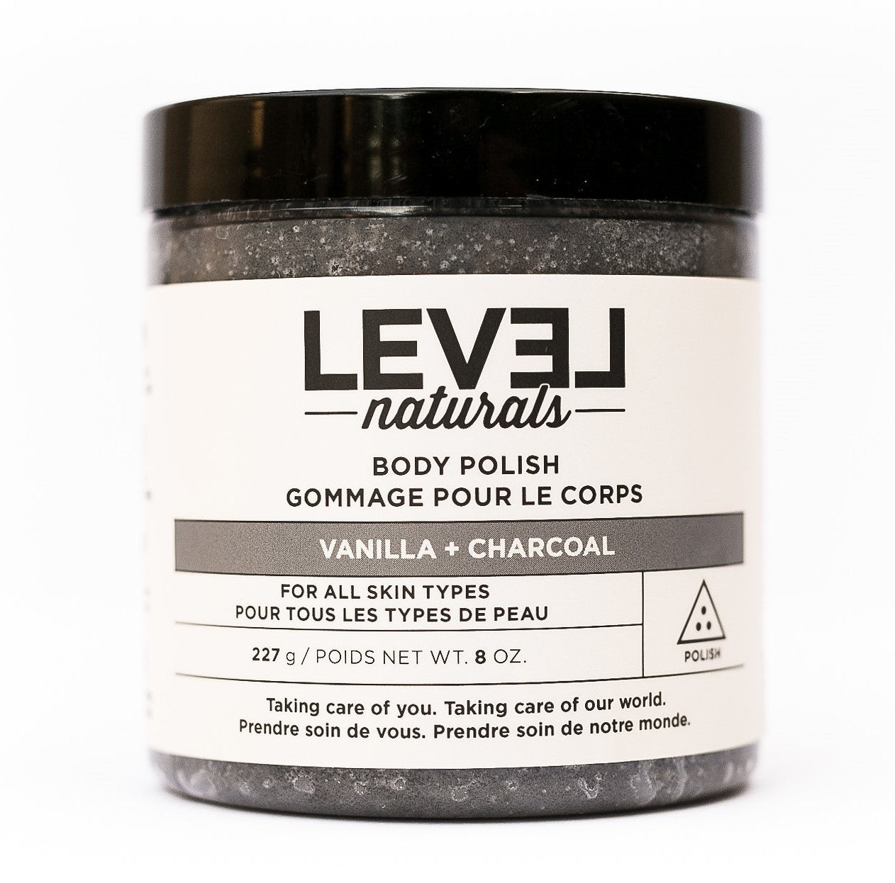 Vanilla + Charcoal Body Polish