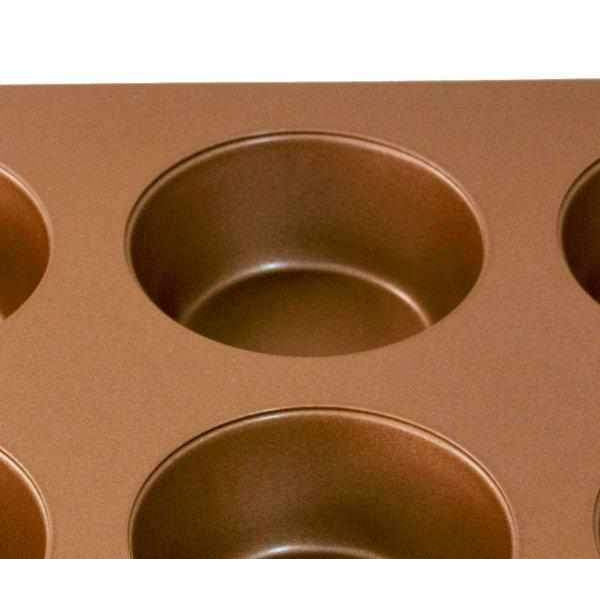 12 Cup Carbon Steel Muffin & Cupcake Bake Pan-Bakeware-Chef's Quality Cookware