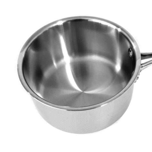 16 CM Stainless Steel Saucepan - Induction Compatible-Stainless Steel Cookware-Chef's Quality Cookware
