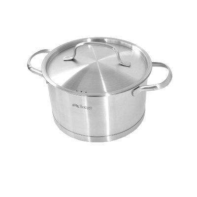 16 Cm Stainless Steel Casserole Pot With Lid Induction Safe-Stainless Steel Cookware-Chef's Quality Cookware