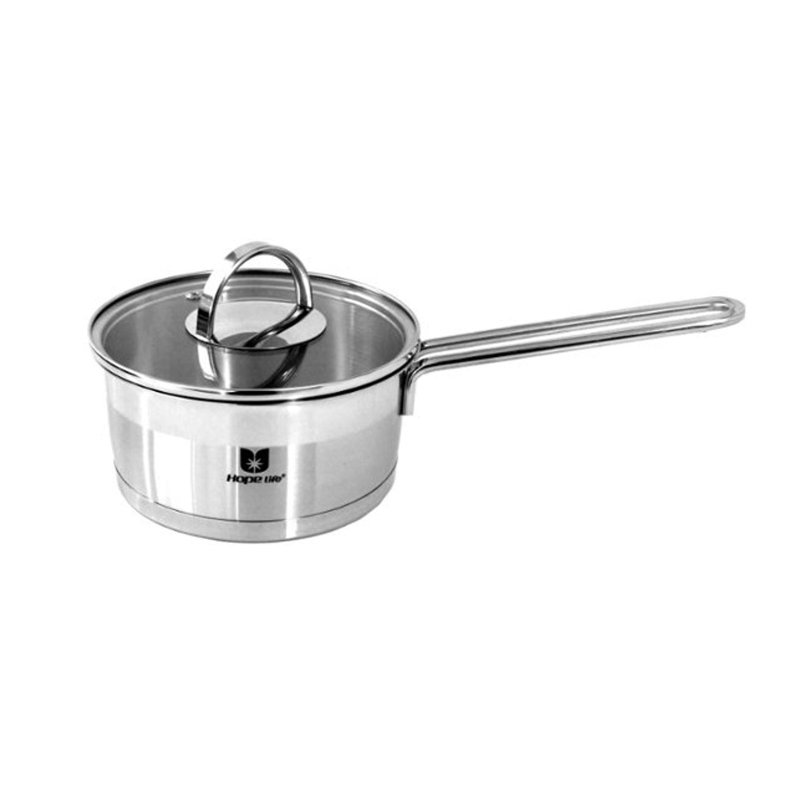 16 Cm Wire Handle Stainless Steel Induction Saucepan-Stainless Steel Cookware-Chef's Quality Cookware
