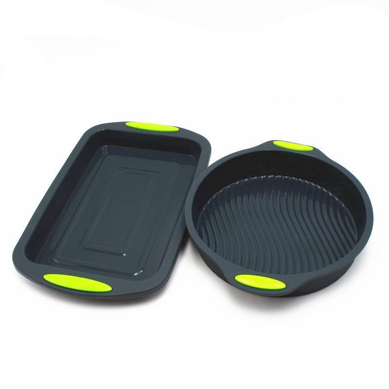 2-Piece Silicone Baking Set-Cake Pan-Chef's Quality Cookware