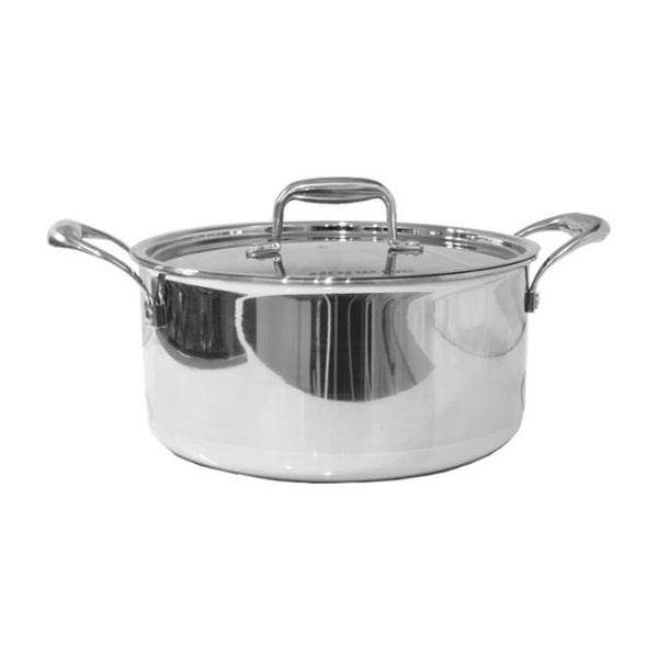 24 Cm Stainless Steel Tri-Ply Casserole-Stainless Steel Cookware-Chef's Quality Cookware