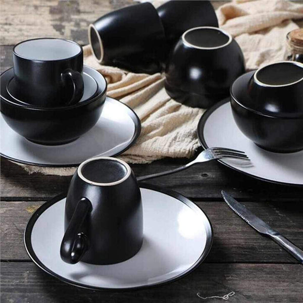 6pcs Plates, Bowls and Cups Dinnerware Set-Tableware-Chef's Quality Cookware