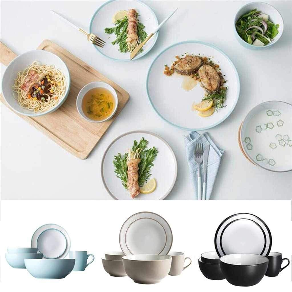 6pcs Plates, Bowls and Cups Dinnerware Set